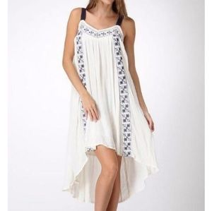 NWT High/ Low Boho Embroidered Dress